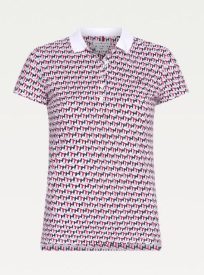 μπλούζα πόλο από ελαστικό βαμβάκι