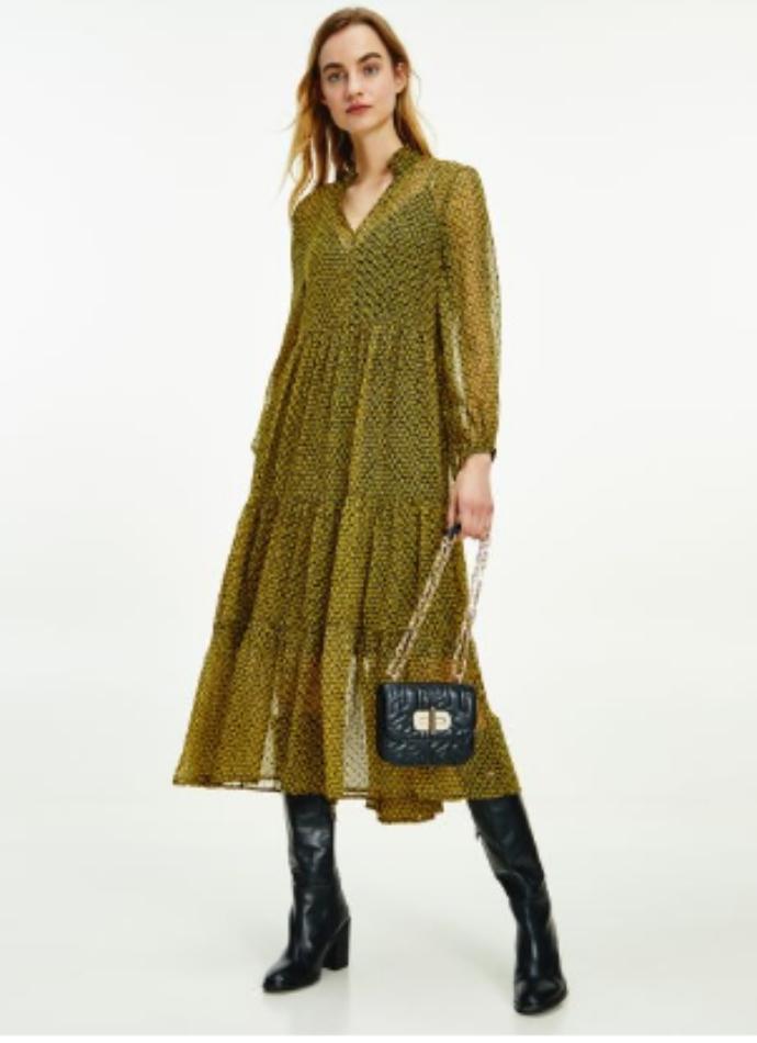 midi φόρεμα με φλοράλ μοτίβο