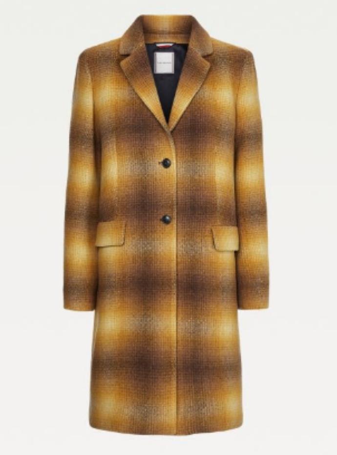 παλτό με καρό μοτίβο