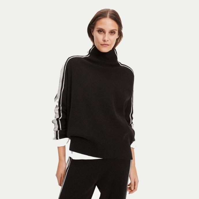 μαύρο πουλόβερ ζιβάγκο
