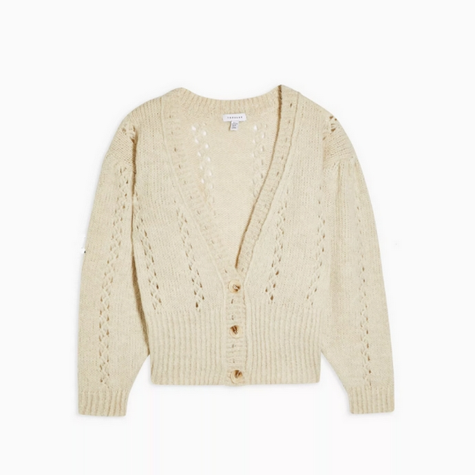 Knitted Pointelle Cardigan