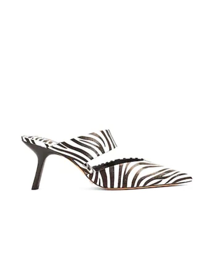 Mules με zebra print