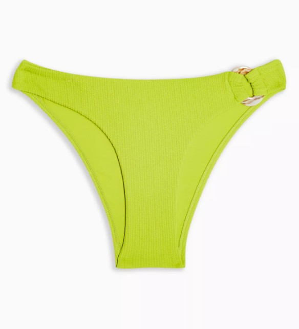 Lime Green Bikini Bottoms - Topshop