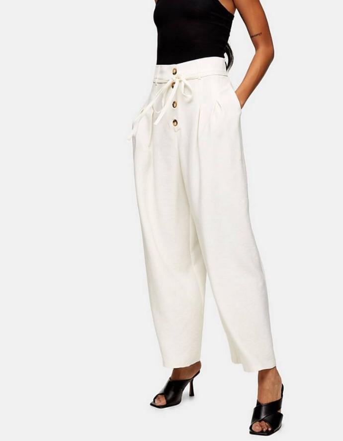 Ψηλόμεση παντελόνα με κουμπιά