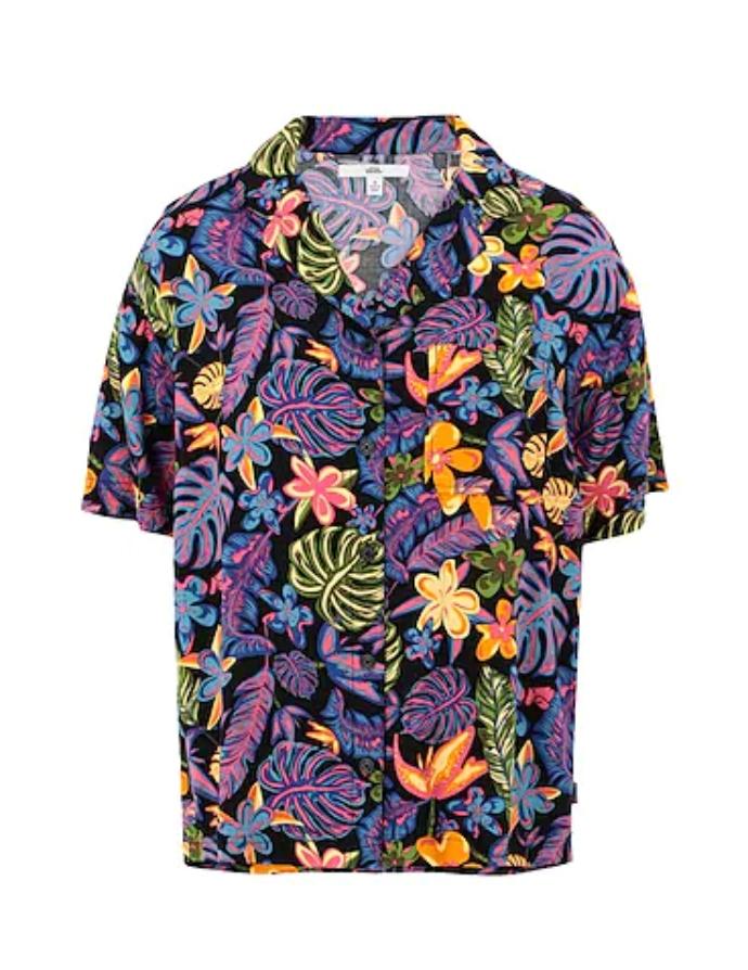 κοντομάνικο φλοράλ πουκάμισο