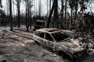 Φωτιές: Εικόνες από την επόμενη μέρα στη Βαρυμπόμπη