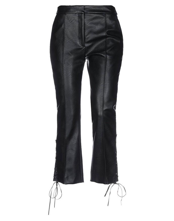 Cropped παντελόνι από vegan δερμα