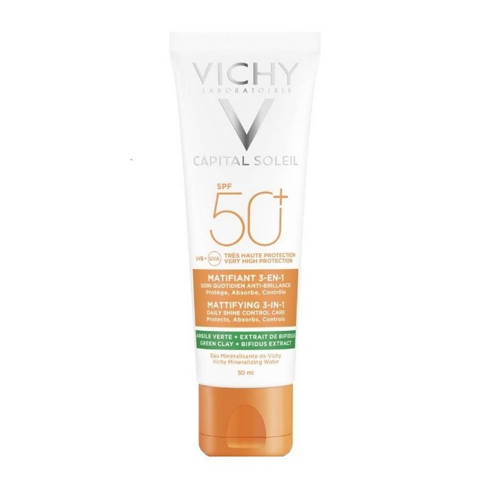 Vichy Capital Soleil Mattifying 3 in 1 Daily Shine Control Care SPF50+