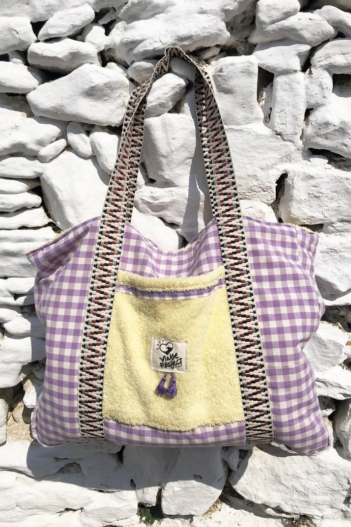 Τσάντα παραλίας CYCLADIC σε λιλά απόχρωση