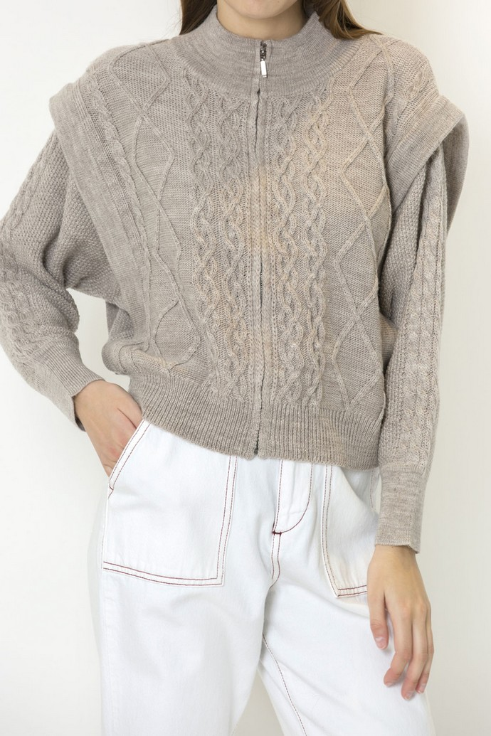 Cable knit ζακέτα