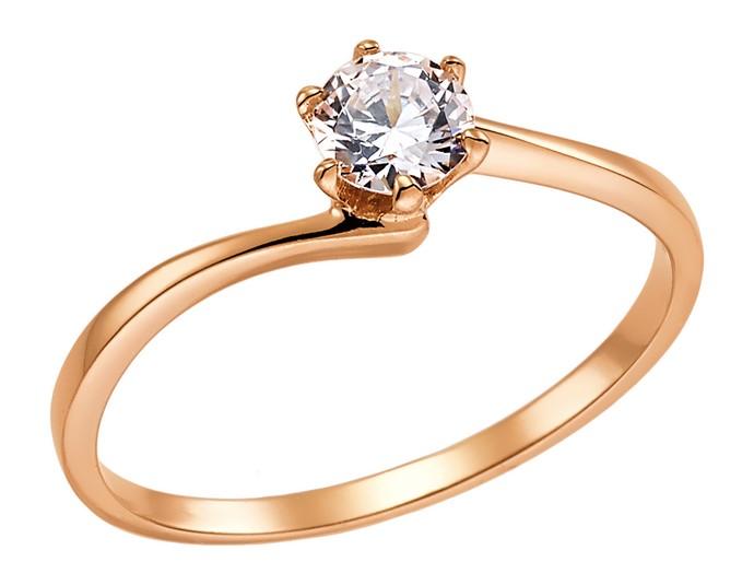Μονόπετρο δαχτυλίδι από ροζ χρυσό