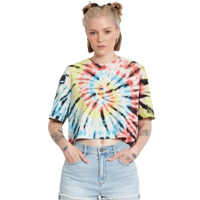 crop tie-dye t-shirt
