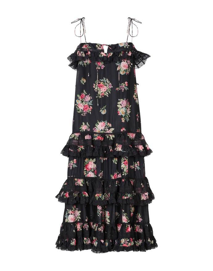 Mεταξωτό φόρεμα tiered