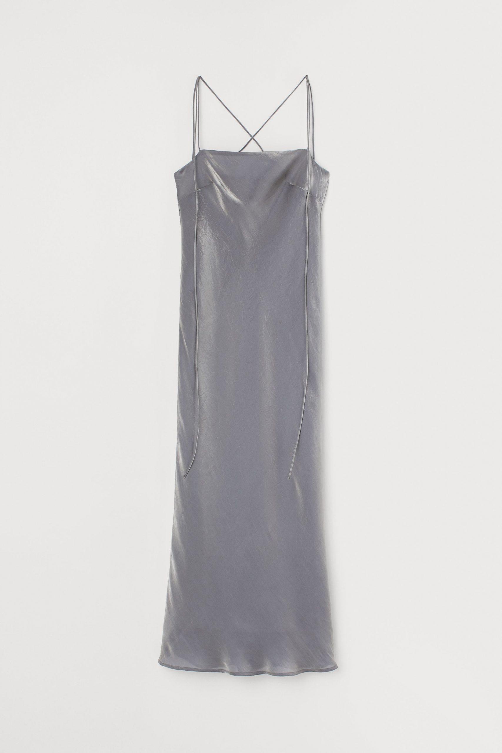 Slip dress σε γυαλιστερό υλικό