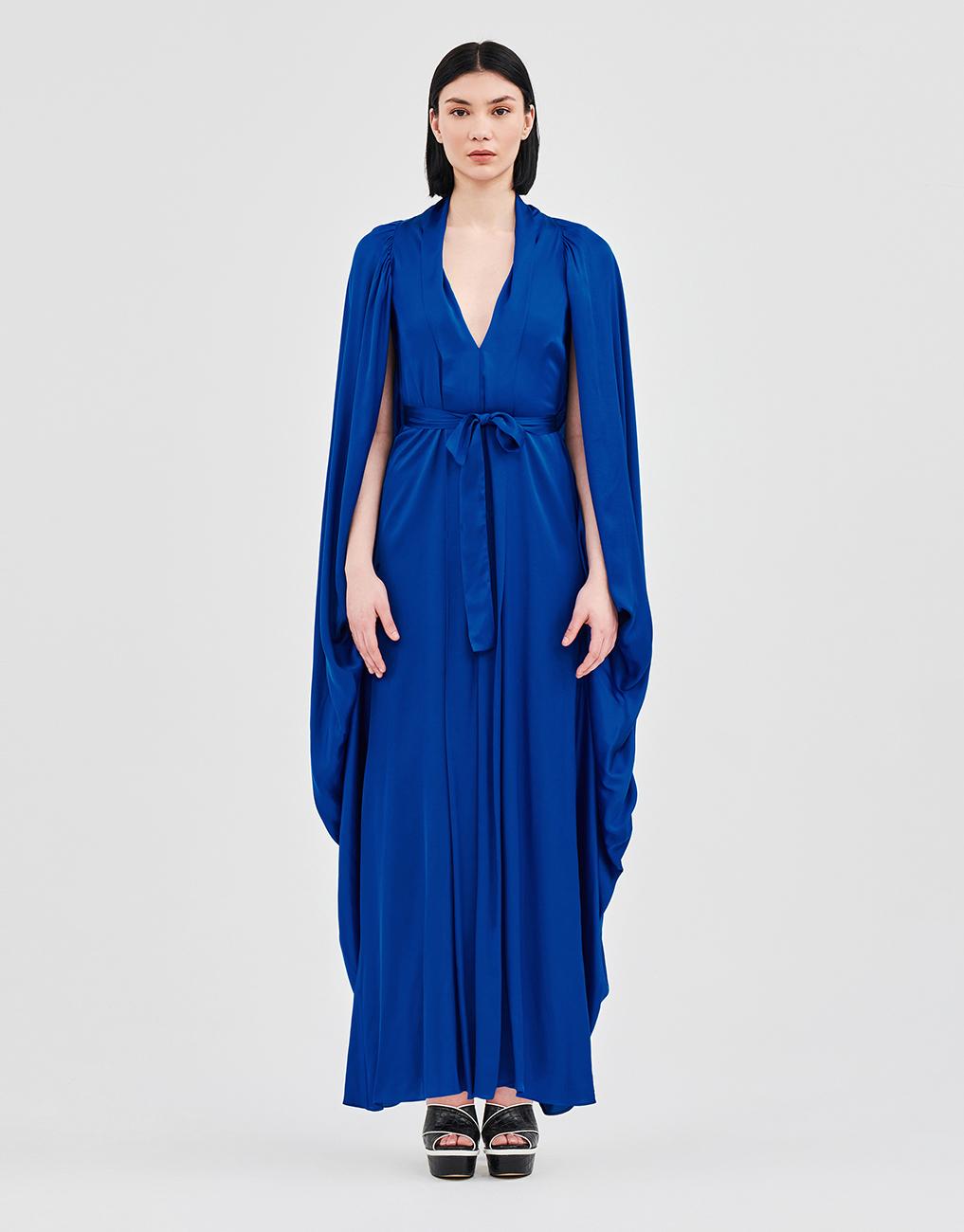 Φόρεμα κιμονό με κάπα