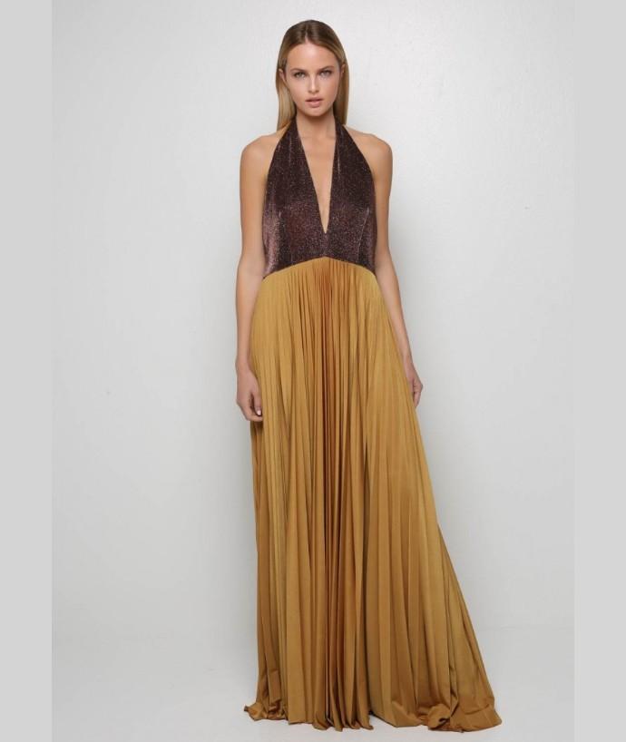 Halterneck φόρεμα με ανοιχτή πλάτη
