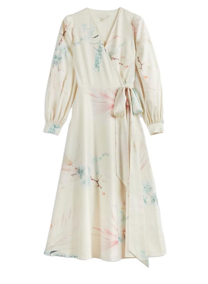 Κρουαζέ φόρεμα με prints