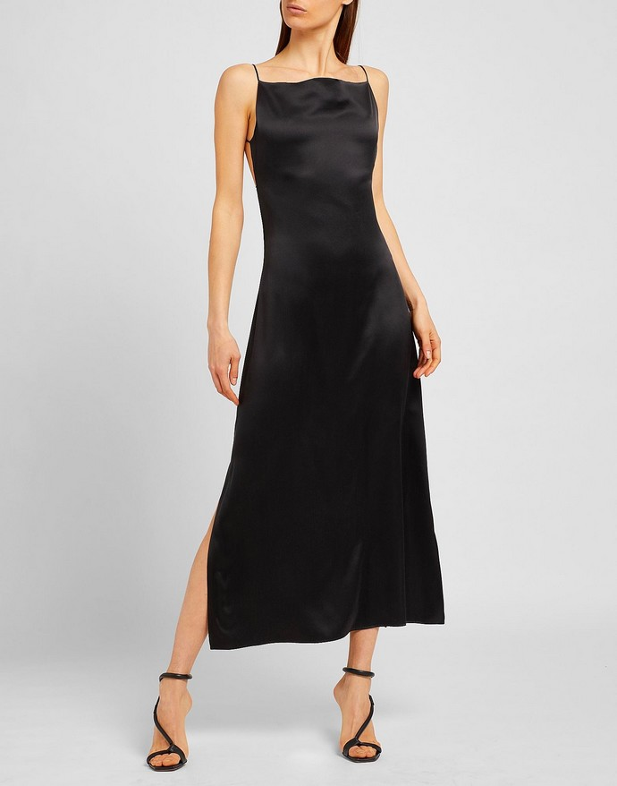 Slip dress με ανοιχτή πλάτη