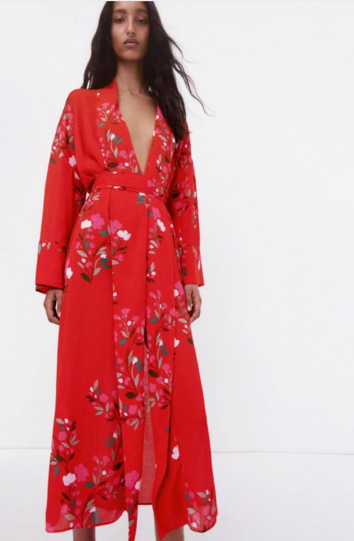 Μακρύ φόρεμα με prints