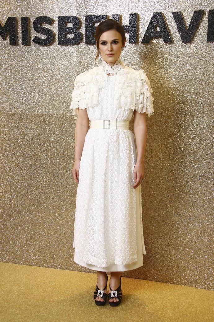 λευκό φόρεμα της Keira Knightley