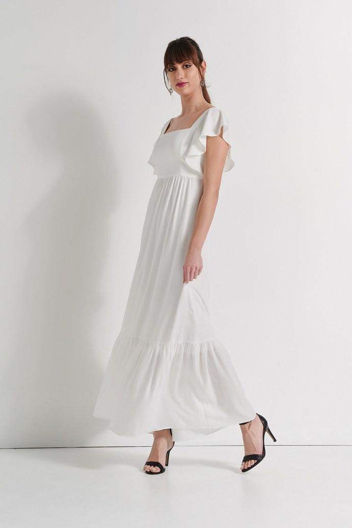 Φόρεμα με βολάν στα μανίκι
