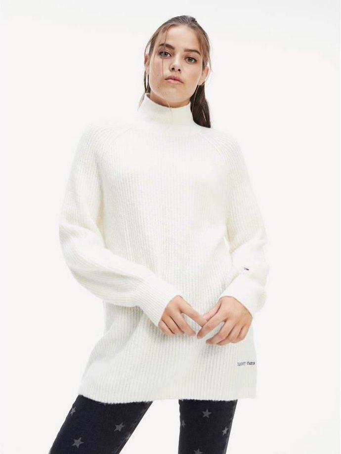 λευκό πουλόβερ