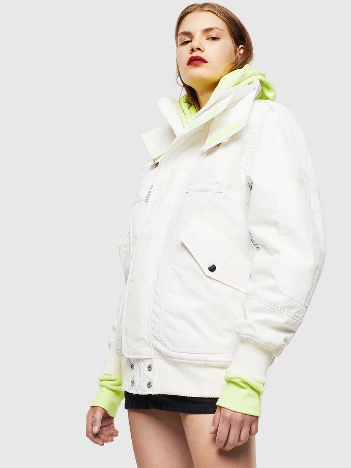 λευκό μπουφάν