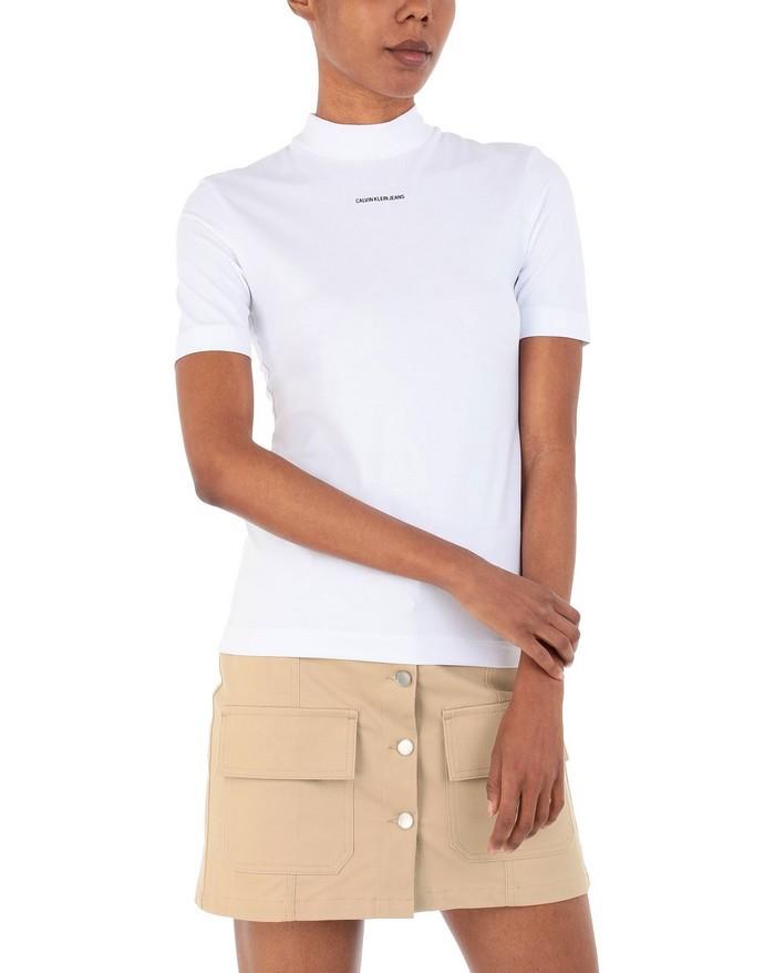 Τ-shirt με ψηλό γιακά
