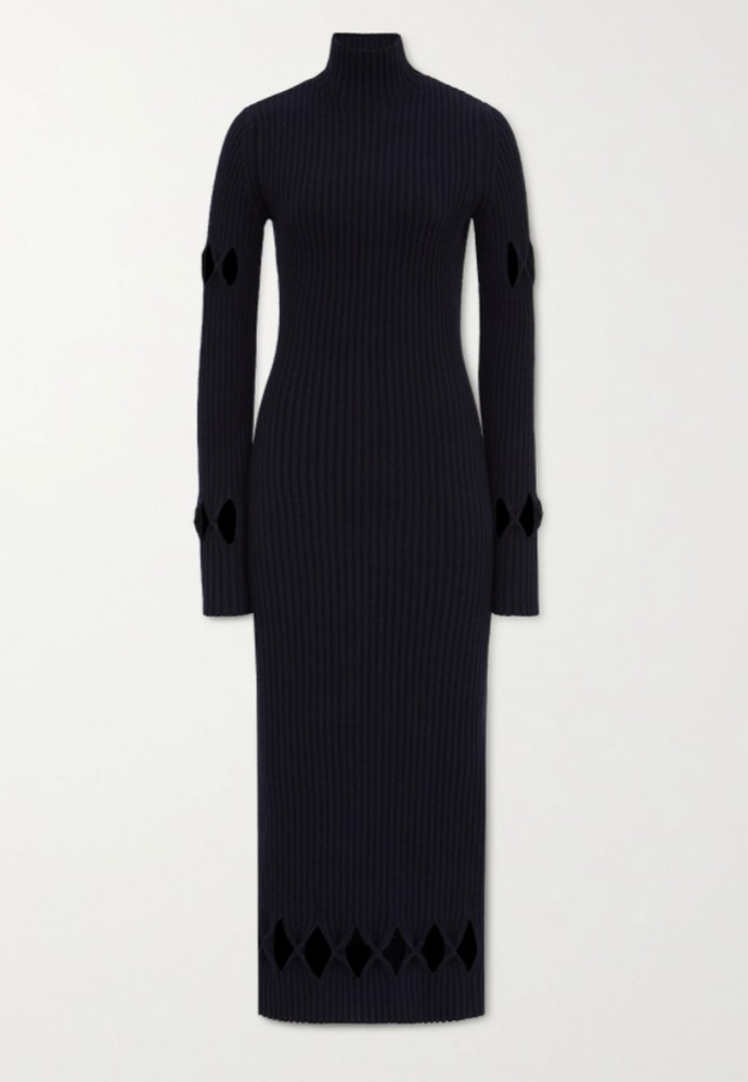 Πλεκτό φόρεμα με cut-outs