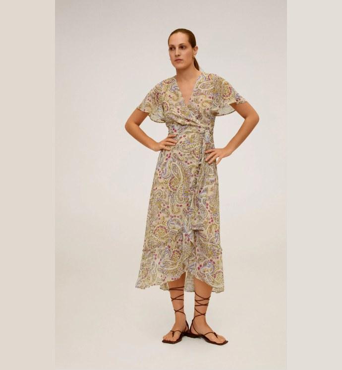 "Mίντι φόρεμα ""λαχούρι"""