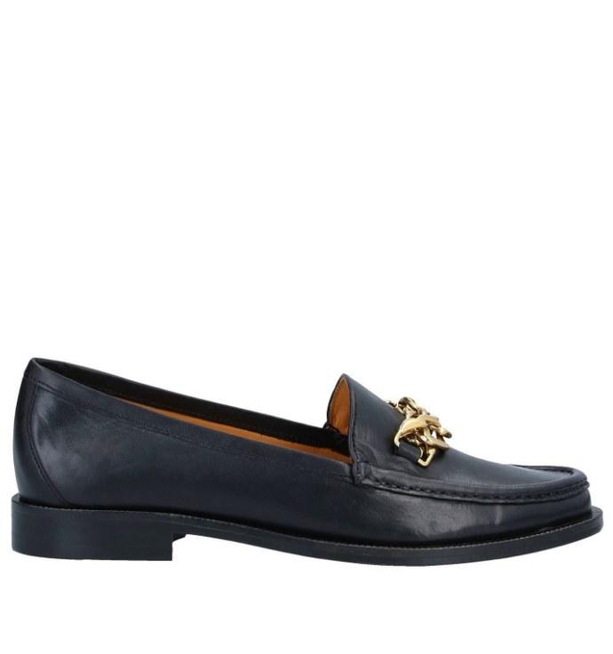 Loafers σε μαύρο με αλυσίδα