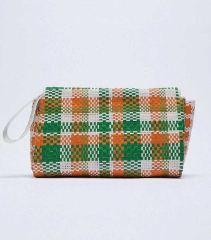 τσάντα φάκελος με πλεξίδα