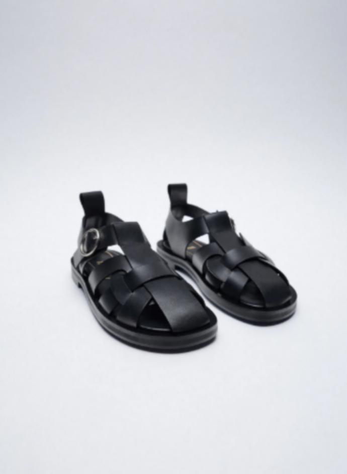 ίσια δερμάτινα πέδιλα fisherman sandals