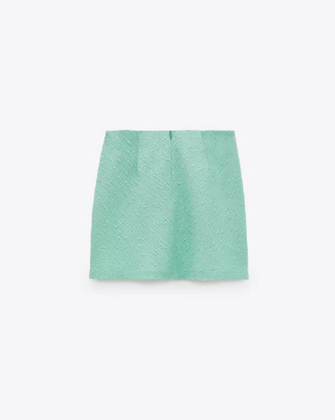 mini φούστα από ανάγλυφο ύφασμα