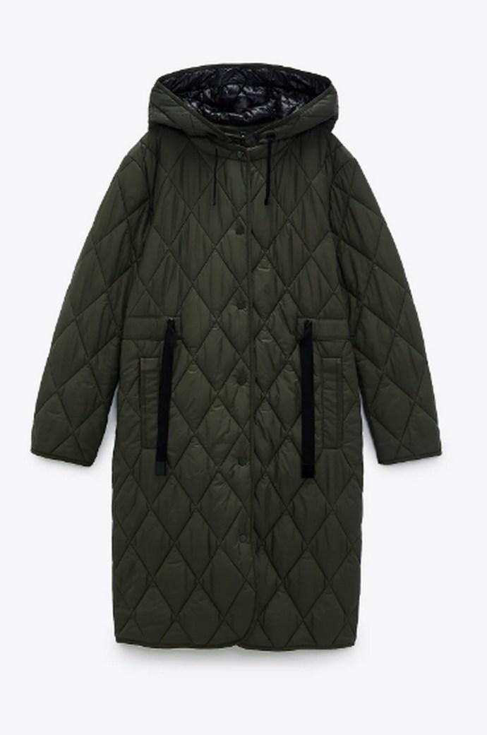 Παλτό καπιτονέ αδιάβροχο με στρόγγυλη λαιμόκοψη