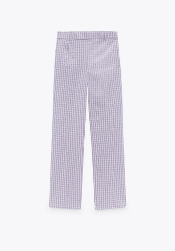 ψηλόμεσο ίσιο καρό παντελόνι Vichy