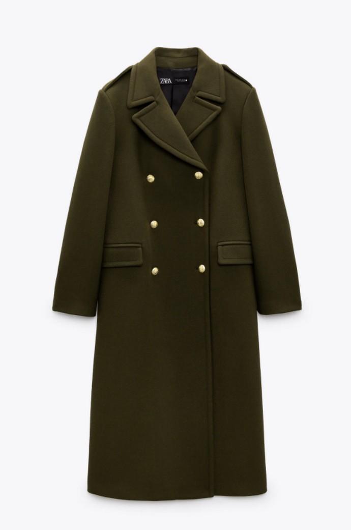 Μάλλινο παλτό με κουμπιά