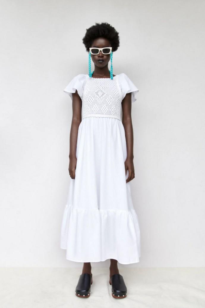 Φόρεμα με crochet λεπτομέρεια