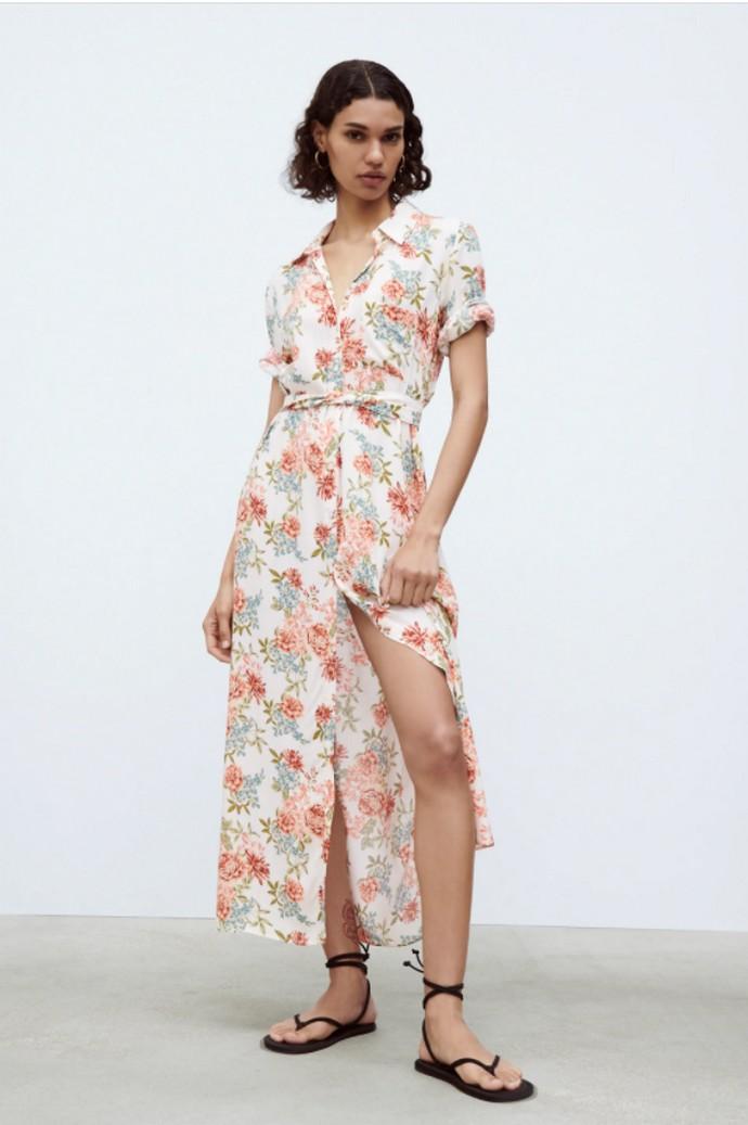 Shirt dress φλοράλ