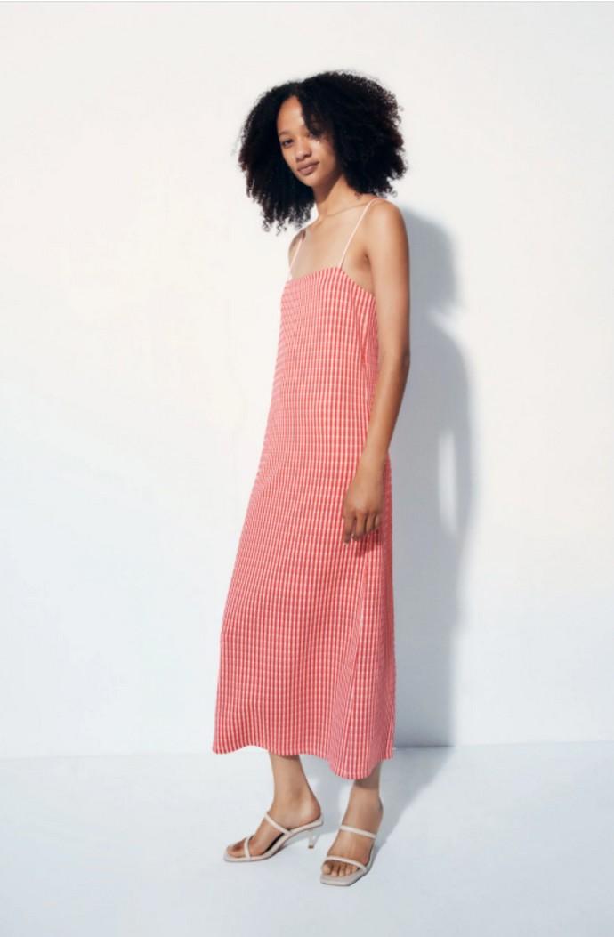 Mίντι ζακάρ φόρεμα