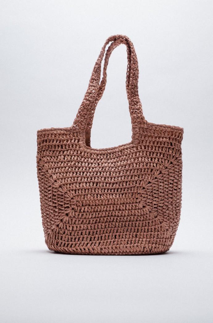 Πλεκτή tote bag