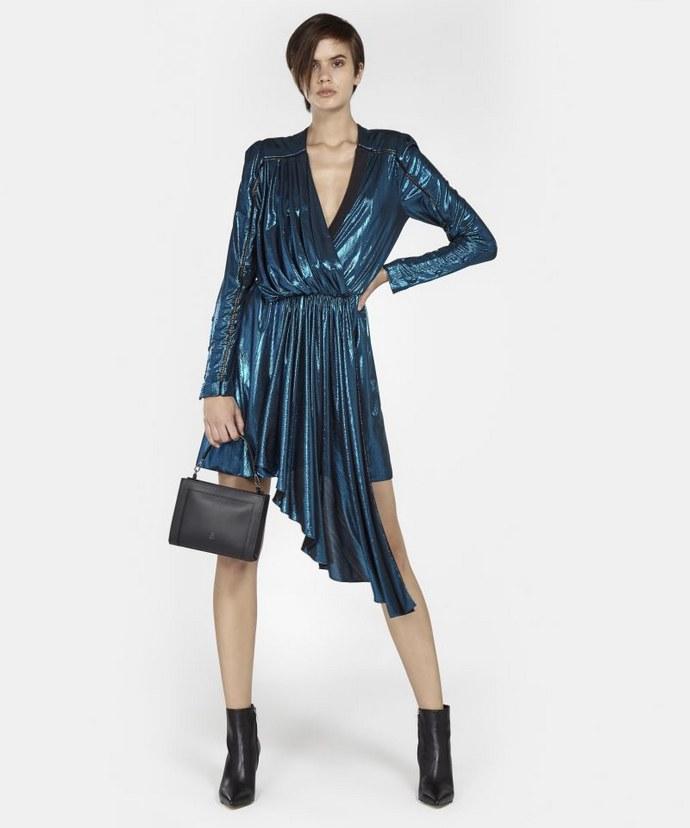 ZEUS + DIONE metallic φόρεμα